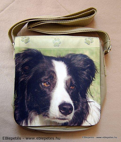 Kisméretű női táska border collie fényképpel